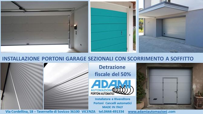 Portoni garage Sezionali MADE IN ITALY!