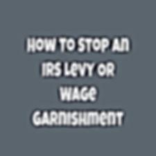 Tax Levy - IRS Garnishment