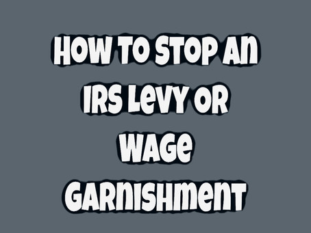 San Diego | Stop IRS Wage Garnishment | Tax Levy NOW - Settle Tax Debt | Affordable Tax Help