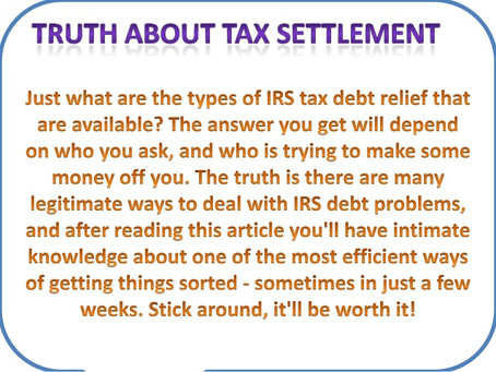WHAT IS A TAX SETTLEMENT? | OFFER IN COMPROMISE | FLAT FEE TAX SERVICE