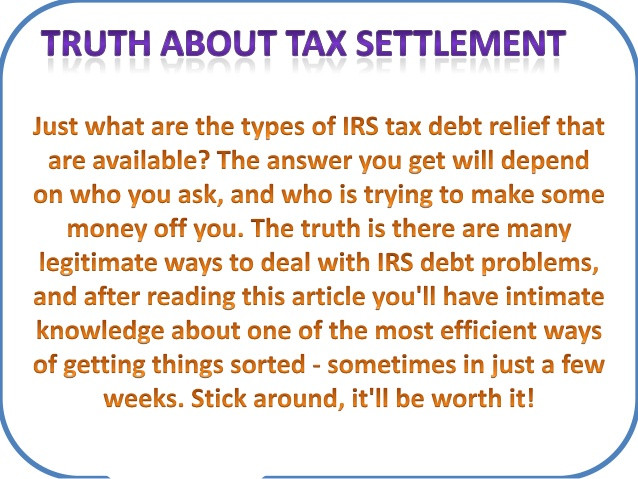 Tax Settlement - Offer in Compromise