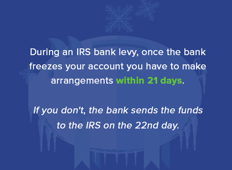 IRS Bank Levy | How to Release an IRS Bank Levy | Flat Fee Tax Service