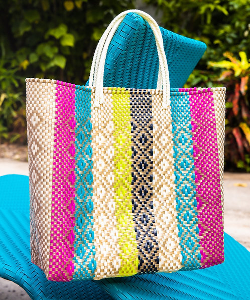 Colorful Stripe LX Tote