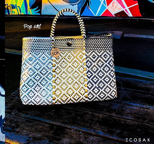 Silver, Gold & Black Bella Tote