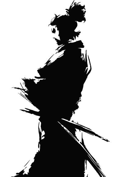 ronin's silhouette