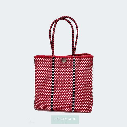 Red Checkers Lila Purse