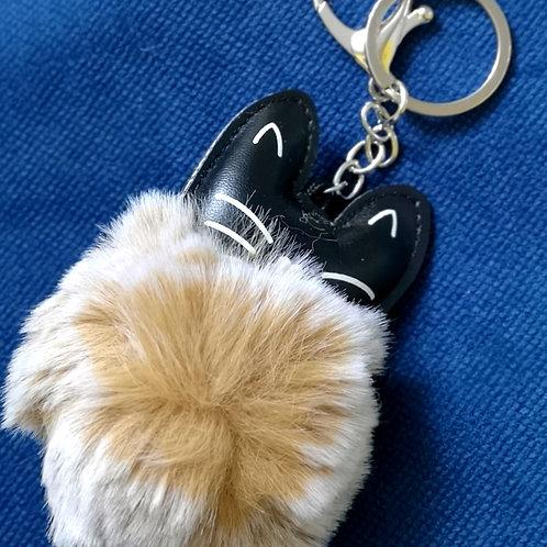 Pom pom mačka-privjesak za ključeve