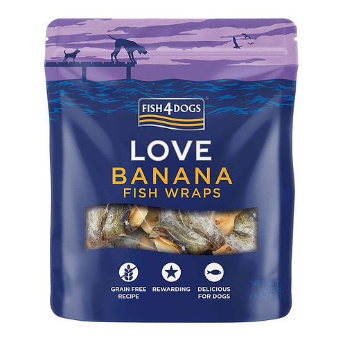 Fish4Dogs LOVE Wraps poslastice, banana 100g