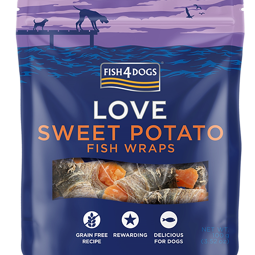Fish4Dogs LOVE Wraps poslastice, batat 100g
