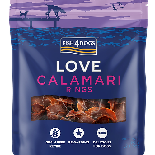 Fish4Dogs LOVE poslastice – Calamari rings 60g