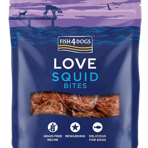 Fish4Dogs LOVE poslastice – Squid Bites 80g