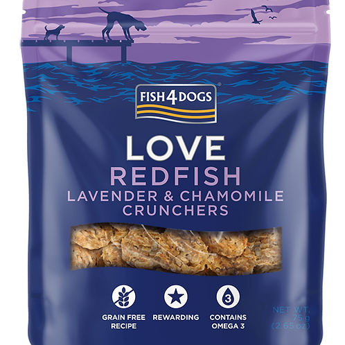 Fish4Dogs LOVE poslastice – Redfish & Lavander 75g