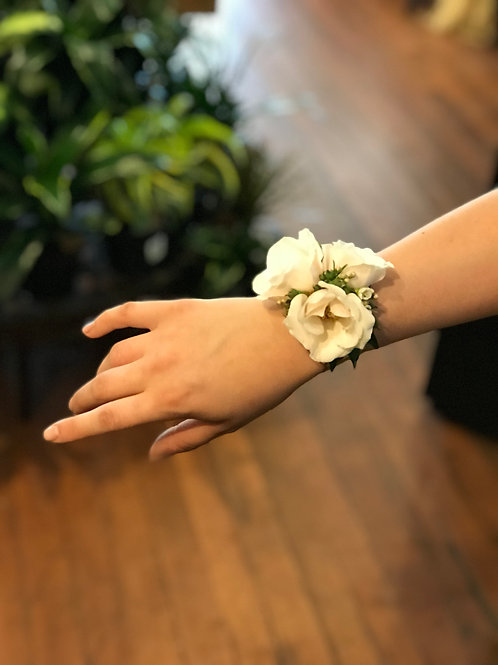 Corsage with Metal Cuff