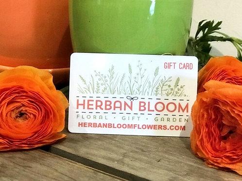 Herban Bloom Gift Certificate