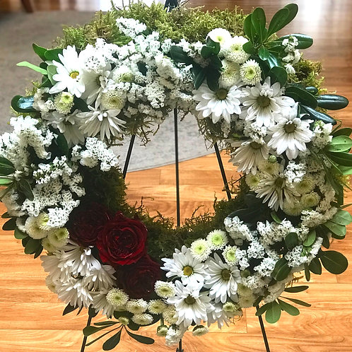 Classic Memorial Wreath with Stand