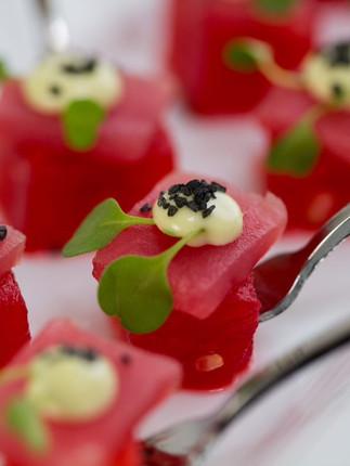 Watermelon & Ahi Tuna Canape