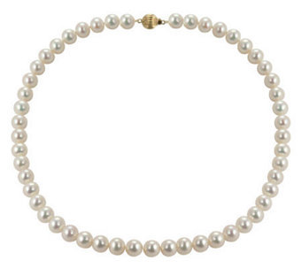 Honora – Cultured Pearl Semi Round 14k Necklace