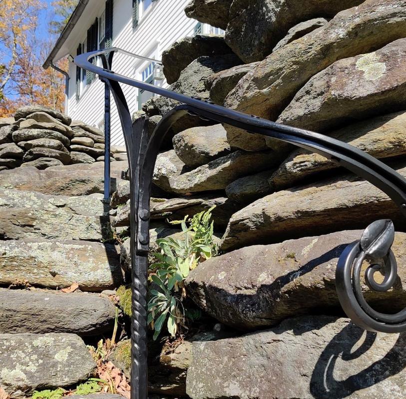 Custom Railing with Leaf Detail