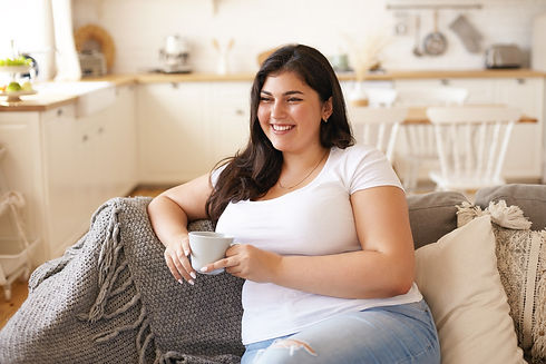 healthy woman drinking tea