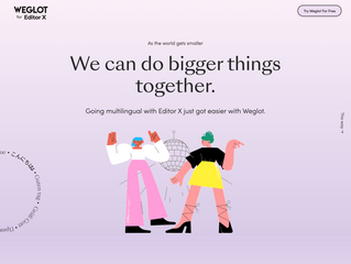 Recently Launched: Weglot for Editor X Promo Site