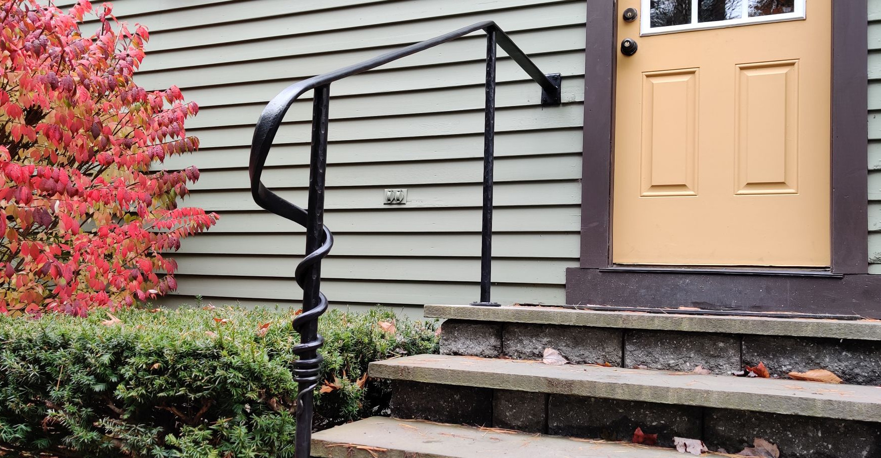 Hand Forged Railing with Wrap