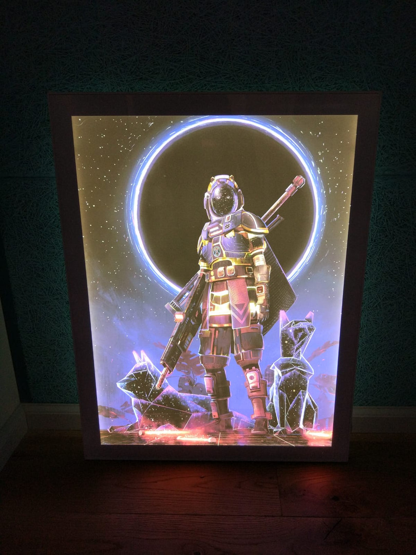Backlit frame