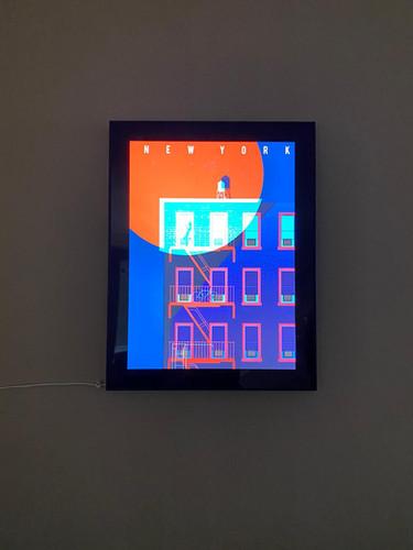 BTP Backlit frame New York