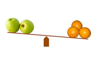 Comparison, apples & oranges