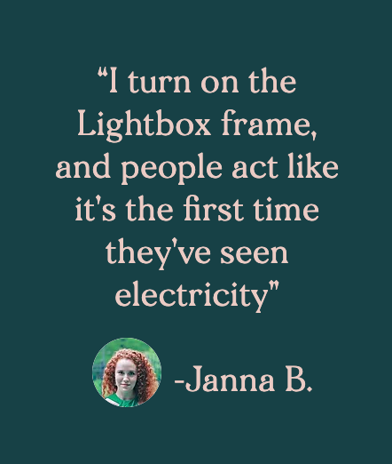 Customer testimonial by Janna B.