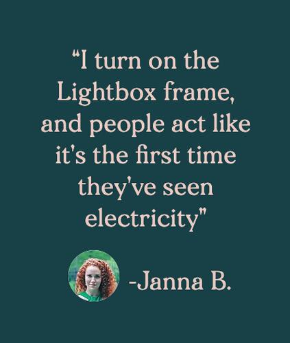 Customer testimonial by Janna B.