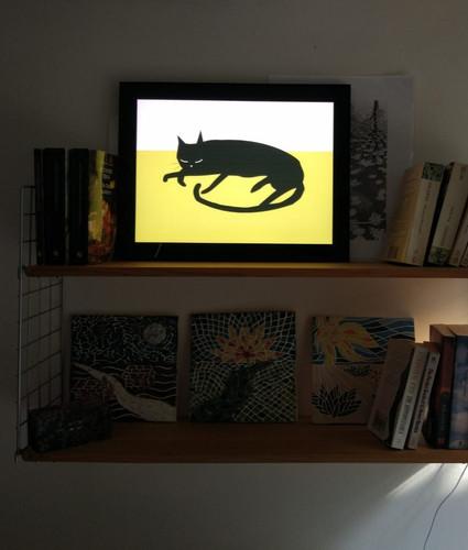 Backlit frame lighting up the room