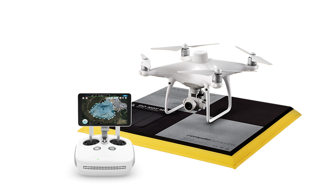 Aerial Point RTK / PPK Drone Controller and DJI Phantom 4 Pro Drone