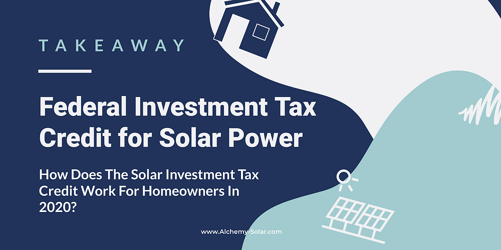 Hoes does the solar investment tax credit work in 2020?