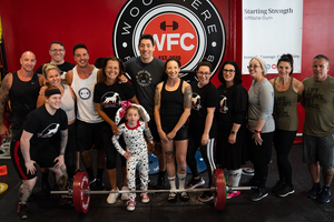 Woodmere Fitness Club third annual Deadlift for Dogs event participants
