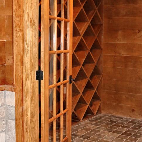 Long Residence wine cellar closeup