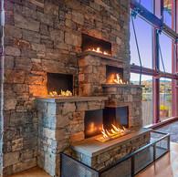 Carinthia Base Lodge Fireplace