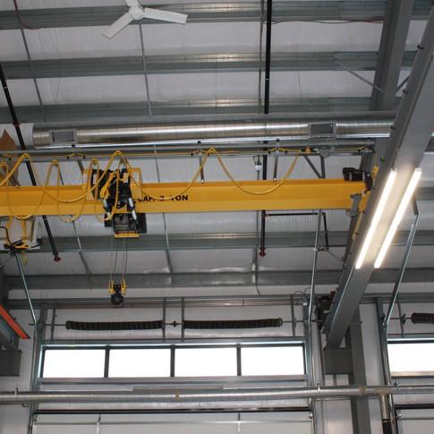 Eastman Maintenance Facility interior ceiling