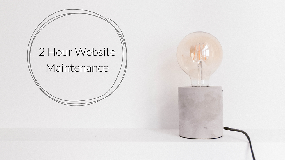 2 Hour Website Maintenance