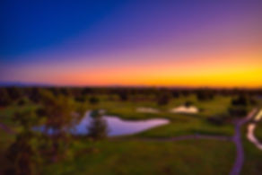 Golf course at sunset drone image extreme aerial productions