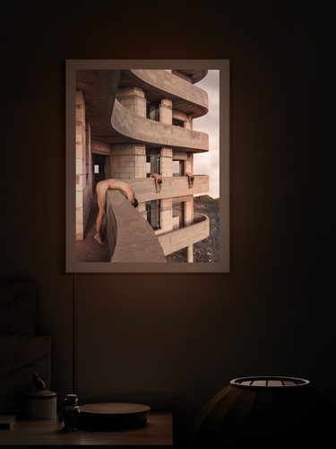 Omer Gaash new collection art in a backlit frame