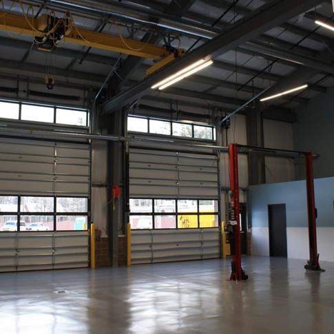 Eastman Maintenance Facility interior Garage