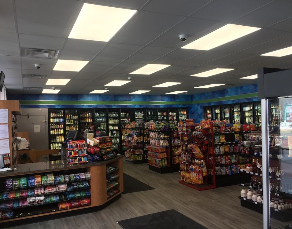 Sandri Sunoco Gas Station Interior Goods and Register