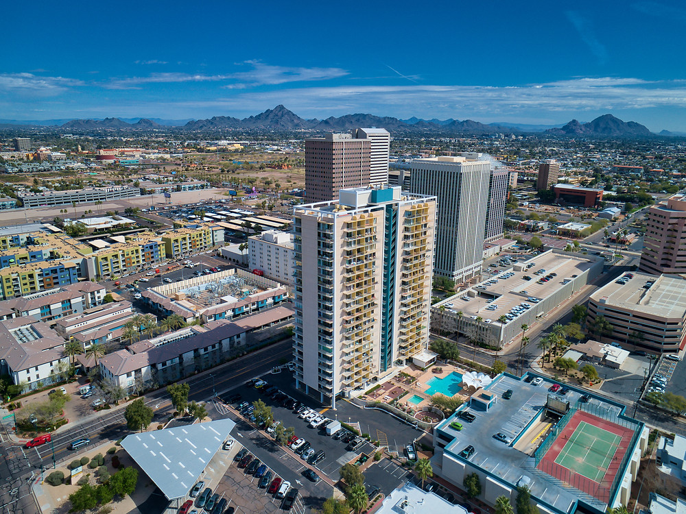 High Rise Condo For Sale In Phoenix, real estate drone photography extreme aerial productions