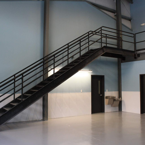 Eastman Maintenance Facility interior stairs