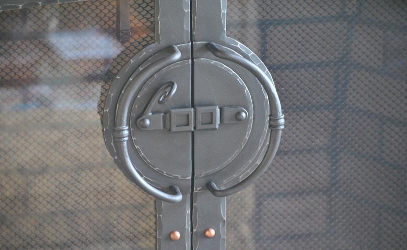 Custom Fireplace Door Latch