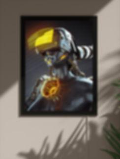 Backlit framed poster: Subject 007