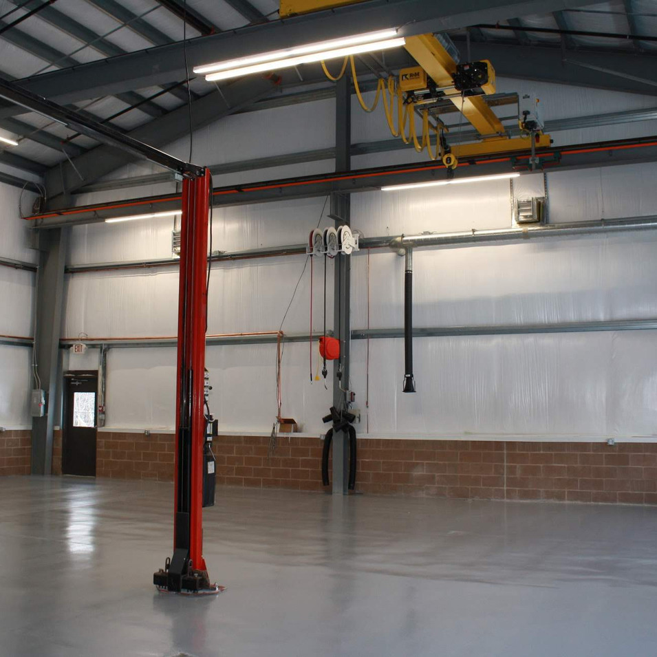Eastman Maintenance Facility interior ceiling/walls