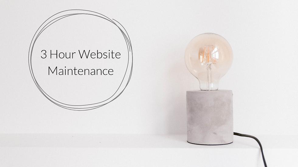 3 Hour Website Maintenance