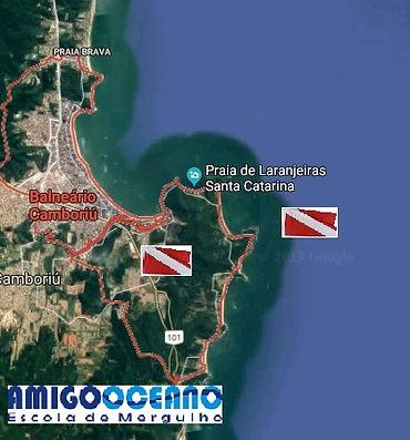 Pontos de mergulho em Balneário Camboriú