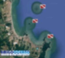 Pontos de mergulho na região de Penha-SC